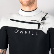 O'Neill Mens 2mm Hyperfreak Short Sleeved (Blk/Lun Wetsuit