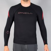 O'Neill S15 Hammer Long Sleeve Crew (Blk/Blk/Red)