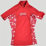 Xcel Womens S/S Rash Vest (Red Floral)