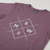 MSW Cross Logo T-shirt (Burgundy Marl)
