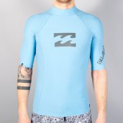 Billabong Butlogo Short Sleeved Rash Vest (Haze)