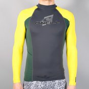 O'Neill Mens Skins Long Sleeved Crew (Graph/Combat